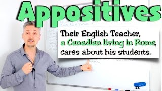 What Are APPOSITIVES ? (GREAT Lesson On A Point GRAMMAR Books Don't Write About)