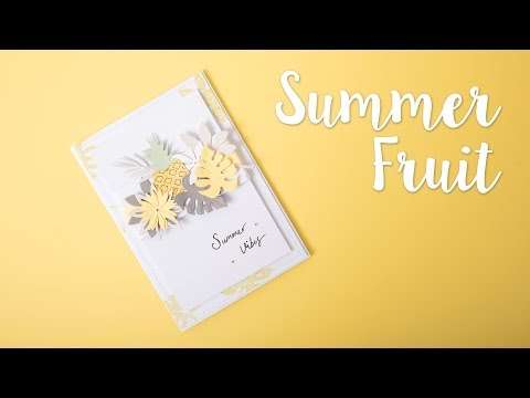 How to Make Tropical Card - Sizzix