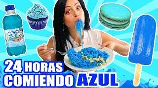 24 HORAS COMIENDO AZUL   RETO SandraCiresArt   All Day Eating Blue Food Challenge