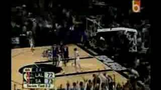 Los Angeles Lakers V. San Antonio Spurs - Game 5 Western Conference Finals 2004