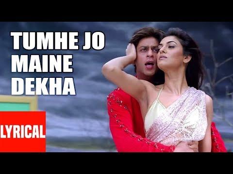 Tumhe Jo Maine Dekha Lyrical Video | Main Hoon Na | Shahrukh Khan, Sushmita Sen