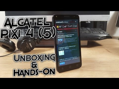 Alcatel Pixi 4 (5) Unboxing and Hands on - First Boot