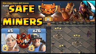 *Miners in CWL* Th 12 Attacks with WHF | Clash of Clans