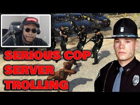 African Rebel Trolling Very SERIOUS wannabe cop servers! FiveM Gta 5 RDM