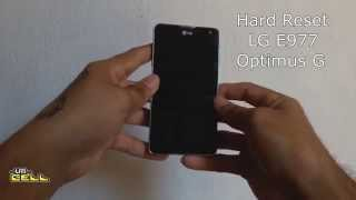 Hard Reset no LG Optimus G (E977) #UTICell