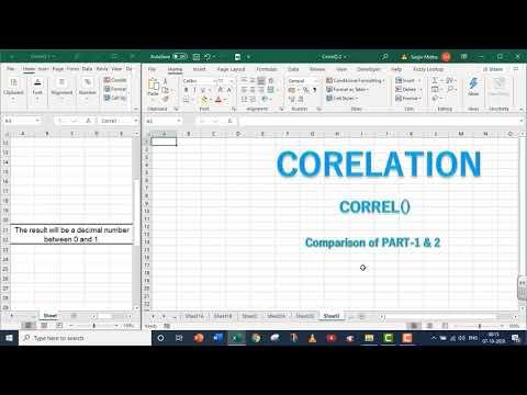 EXCEL CO RELATION CORREL FUNCTION