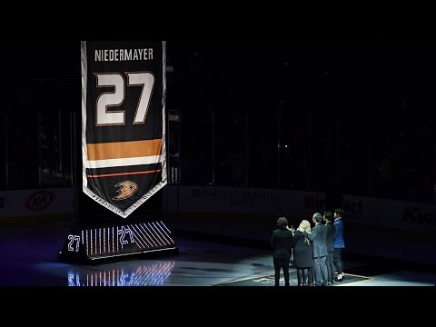 Ducks raise Scott Niedermayer's No. 27 to the rafters