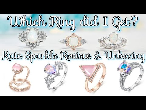 ✳️Kate Sparkle Jewelry  Review & Unboxing! Affordable Designer Rings!