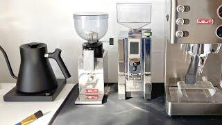 Lelit Fred PL043MMI vs Eureka Mignon Specialita Grinder - chrome