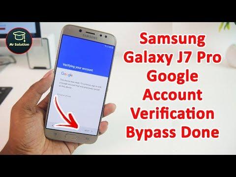 1 May 2018   Samsung Galaxy J7 Pro (J730F) Google Account Verification Bypass