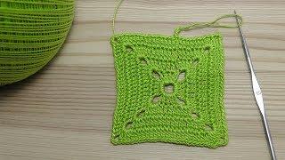 Урок вязания крючком КВАДРАТА. Крючок для начинающих. Lesson crochet