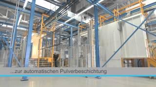 preview picture of video 'Pulverbeschichtungsanlage - Stobag Alufinish GmbH, Deutschland'