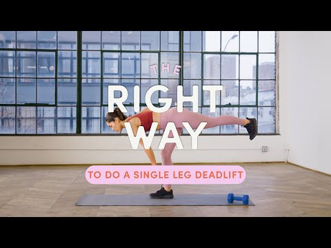 How To Do A Single Leg Deadlift   The Right Way   Well+Good