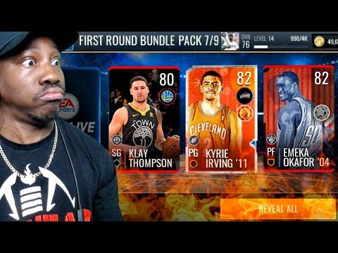 PULLING ELITES IN FIRST ROUND PACK OPENING! NBA Live Mobile 19 Season 3 Gameplay Ep. 6