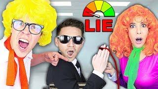 LIE DETECTOR TEST REVEAL AGENT SECRET! Is Rebecca a Liar? True Scooby Doo Disguise Hacker Challenge!