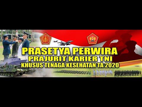 UPACARA VIRTUAL PRASETYA PERWIRA PA PK TNI KHUSUS TENAGA KESEHATAN TA. 2020