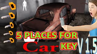 5 Trick TO FIND CAR KEY IN GRANNY II UPDATE VERSION 1.5 (IOS & Android) granny horror game