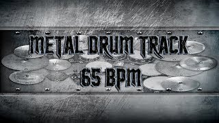 Doom/Stoner Metal Drum Track 65 BPM | Remix (HQ,HD)
