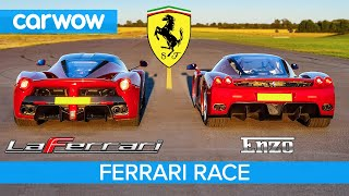 Ferrari Enzo vs LaFerrari - RACE & BRAKE TEST