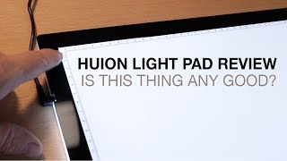 Huion A3 LED Light Pad Review and Starting a Drawing Commission pt. 1