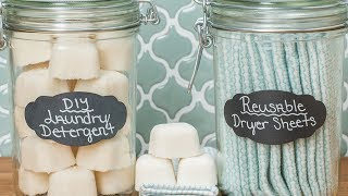DIY Laundry Detergent & Dryer Sheets