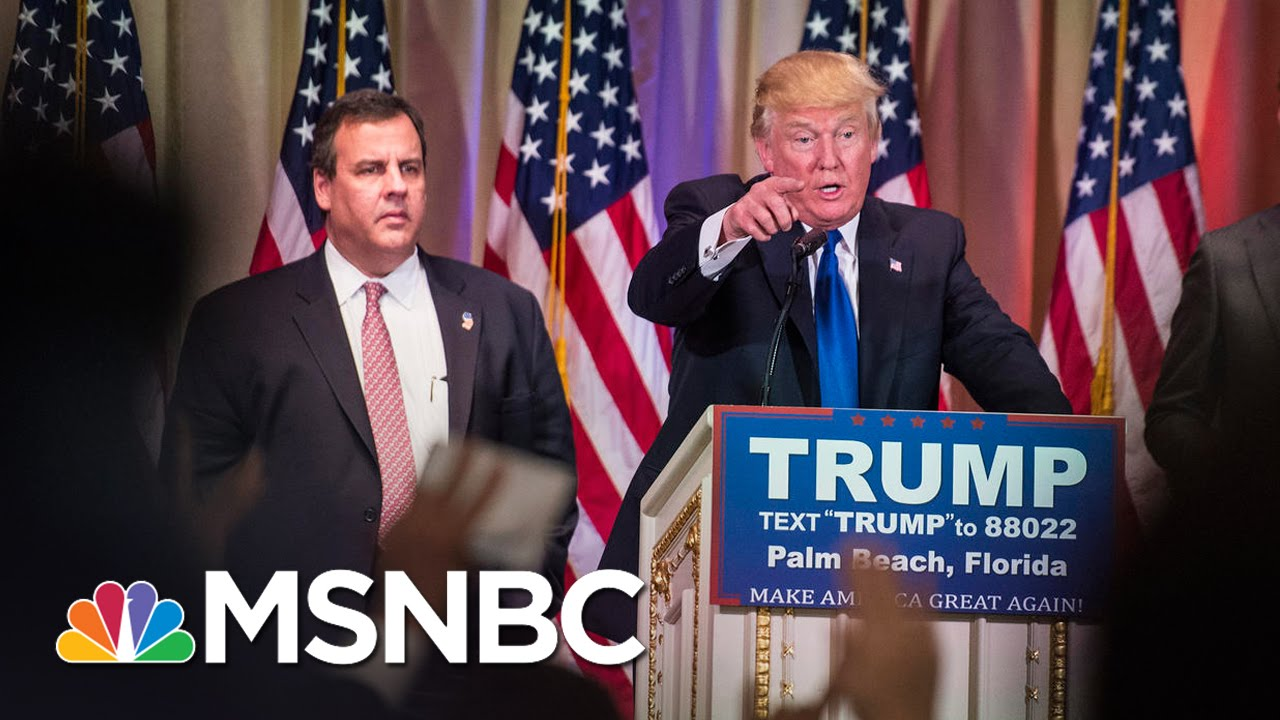 Chris Christie's Best Expressions During Trump's Victory Speech | MSNBC thumbnail