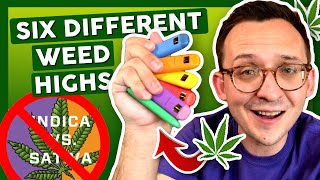 FORGET INDICA VS SATIVA! 😵 Six Different Weed Highs by That High Couple