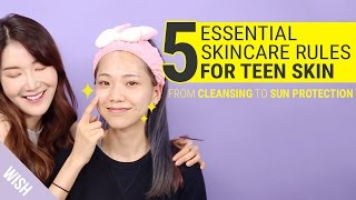 5 Essential Rules for Teenage Skin Care | Teen Skincare Essentials Box | Wishtrend
