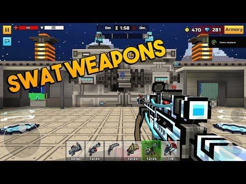 Pixel Gun 3D - Swat Weapons [Gameplay] Clan Siege Battle