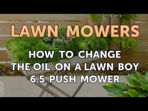 How to Change the Oil on a Lawn Boy 6.5 Push Mower