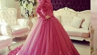 Arabic Wedding Gowns With Hijab😏😏😏😏😏