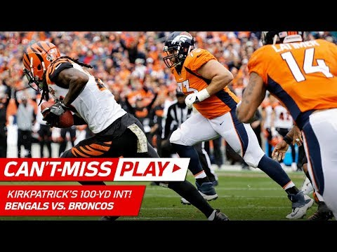 Dre Kirkpatrick's Crazy 100-Yd INT Return, But Fumbles Before the TD! | Can't-Miss Play | NFL Wk 11