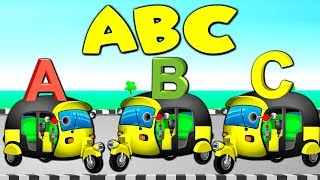 ABC SONG with Rickshaws | ABC Songs Plus Lots More Nursery Rhymes