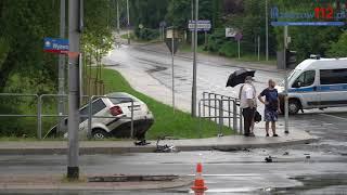 Wypadek na skrzyżowaniu al. Wyzwolenia  w Rzeszowie