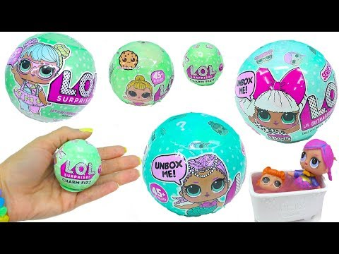 LOL Surprise Doll Blind Bags - Big & Lil Sisters +  Fizz Charm Baby Toy