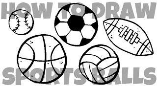 How To Draw Sports Balls म फ त ऑनल इन व ड य
