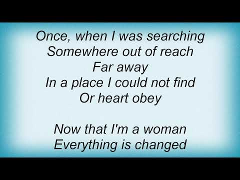 America - Now That I'm A Woman Lyrics
