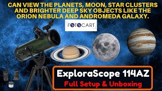 Celestron ExploraScope 114AZ Reflector Telescope| #Unboxing #Review #Setup
