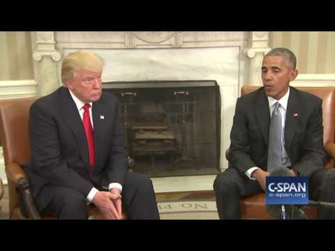 President Obama & President-elect Trump in Oval Office (C-SPAN)