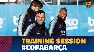 Back to work to prepare the cup match against Levante