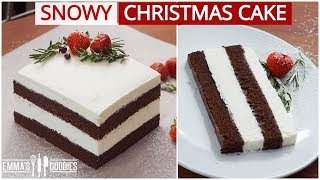 The Christmas Cake YOUR entire family will love! Snowy Chocolate Cake