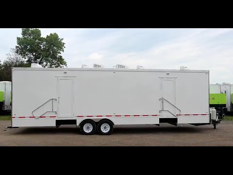 Shower Trailer | Portable Restrooms Trailer | Classic Series 8 Station Shower Trailer