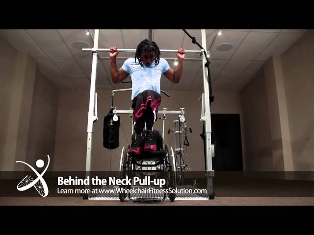 Wheelchair Fitness Solution | Exercise: Behind the Neck Pull up (4 of 40)