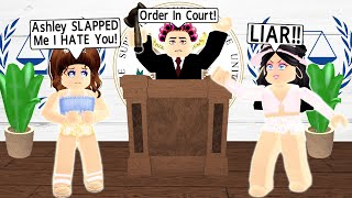 I Built A Court House In Bloxburg...Taking My HATER To COURT! (Roblox)