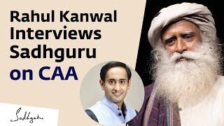 Sadhguru on CAA - Rahul Kanwal Interview at Davos | India Today