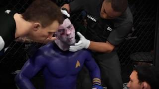 Bad Santa vs. Spock (EA Sports UFC 2) - CPU vs. CPU