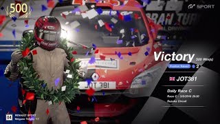 JOT381 GRAN TURISMO SPORT 030618 SUZUKA MEGANE TROPHY 3rd to 1st ONLINE RACE 8 LAPS 500th WIN