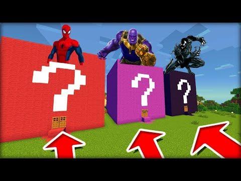 NEVYBER SI ŠPATNOU CESTU DO LUCKY BLOCK DOMU! (Spiderman, Thanos, Venom)