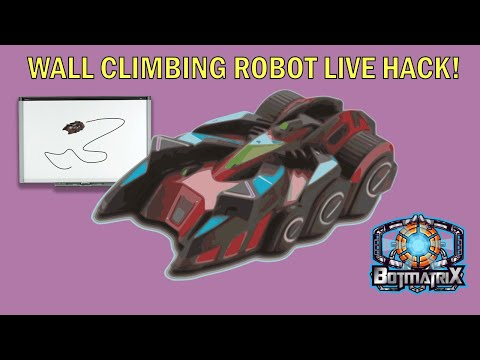 Wall Climbing Robot Live Hack! ....Will It Suck?