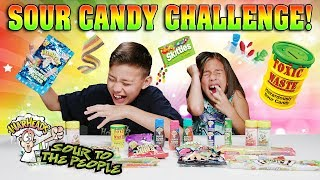 EXTREME SOUR CANDY CHALLENGE!!! Warheads, Toxic Waste, Sour Patch Kids, Airheads & More!